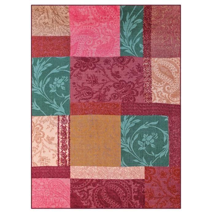 Folk tapis de salon patchwork 133x190 cm cdt achat for Salon patchwork