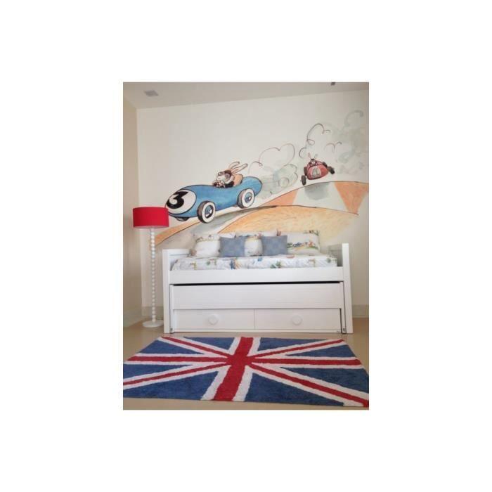 Tapis lavable en machine drapeau anglais flag classic - Tapis salon lavable machine ...