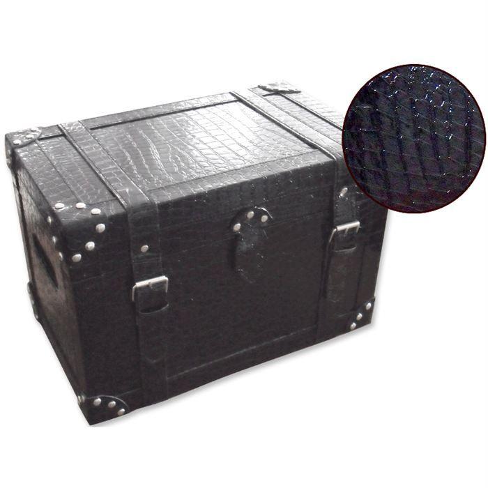 coffre faux croco noir l achat vente coffre faux croco noir l cdiscount