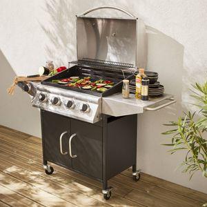 barbecue gaz - achat / vente barbecue gaz pas cher - les soldes ... - Meuble Cuisine Exterieure Bois