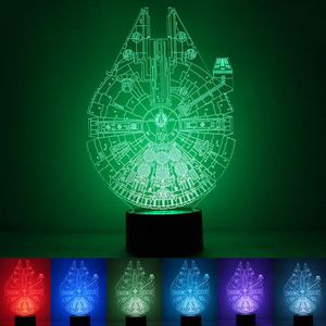 LAMPE A POSER 3D Vision Star Wars LED 7 couleurs changent Lampe