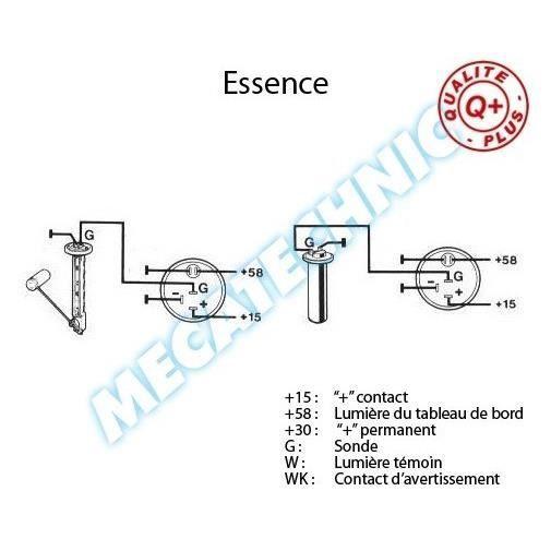 Jauge à essence électrique pour Cox 1302 / 1303 Ensemble jauge
