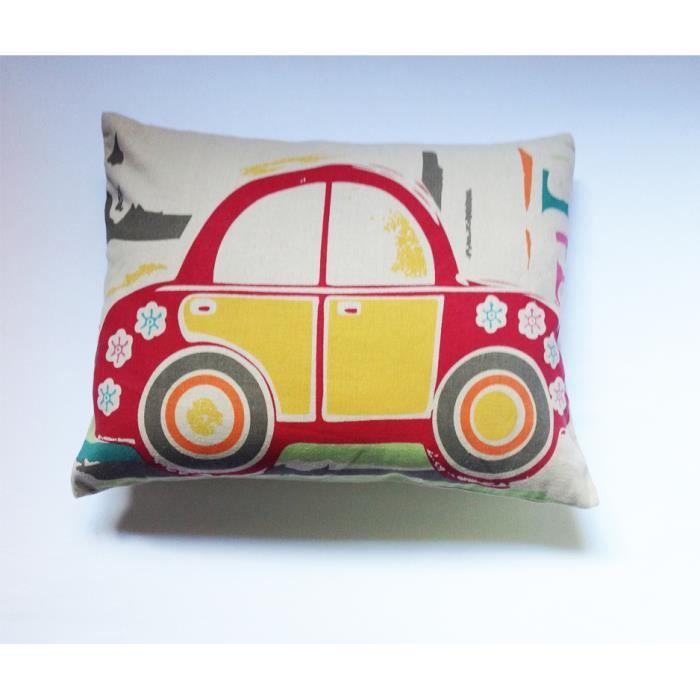 coussin enfant voiture rouge et jaune achat vente coussin cdiscount. Black Bedroom Furniture Sets. Home Design Ideas