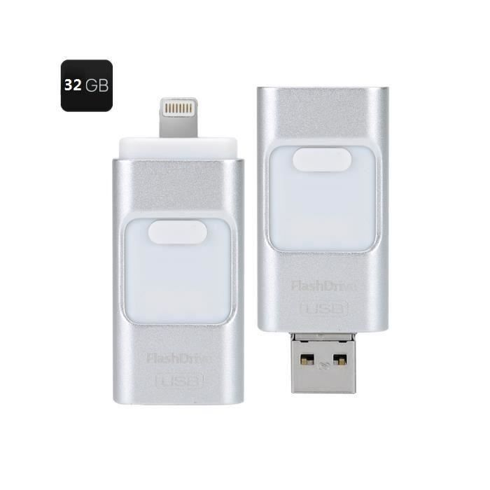 cl usb pour smartphone tablette 32gb multifonctions flashdisk usb triple ios android interface. Black Bedroom Furniture Sets. Home Design Ideas