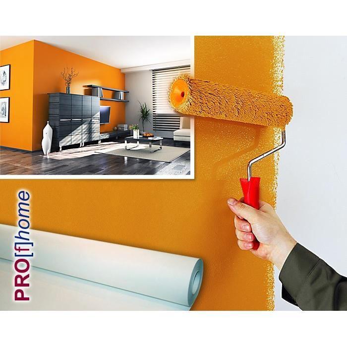 profhome fibre de r novation intiss lisse paisse 150 g m2 1 rouleau 18 75 m2 achat vente. Black Bedroom Furniture Sets. Home Design Ideas