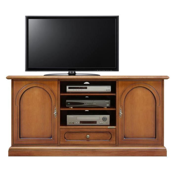 Meuble tv portes avec motif ronde achat vente meuble - Meuble tv avec porte ...