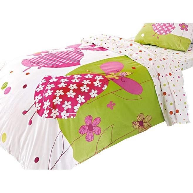 housse de couette 100 coton princesse 140x200cm achat. Black Bedroom Furniture Sets. Home Design Ideas