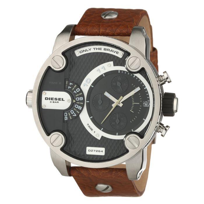 diesel montre dz7264 homme marron tendance achat vente montre cdiscount. Black Bedroom Furniture Sets. Home Design Ideas