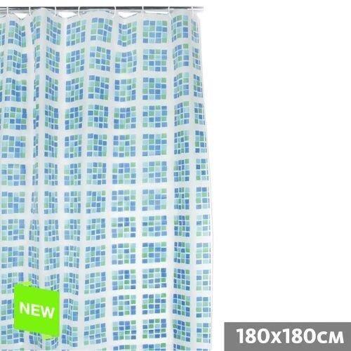 Rideau de douche mosaique 180x180 cm pvc achat vente rideau de douche pvc soldes d - Rideau de douche 180x180 ...