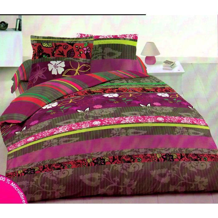 parure de lit une personne achat vente parure de drap cdiscount. Black Bedroom Furniture Sets. Home Design Ideas