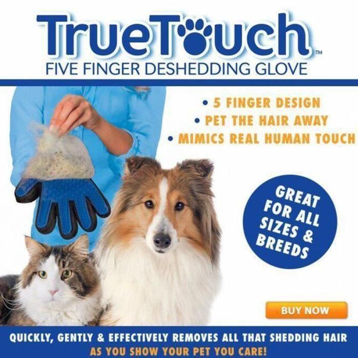 massage gants pour chien chat baignoire true touch efficace doux achat vente brosse carde. Black Bedroom Furniture Sets. Home Design Ideas