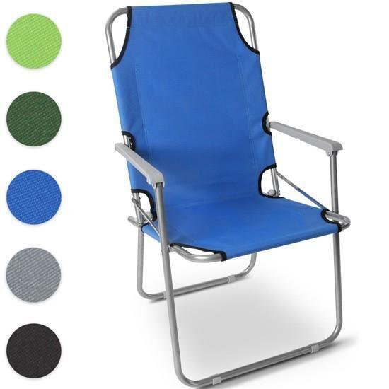 chaise de camping cpst05 bleu prix pas cher cdiscount. Black Bedroom Furniture Sets. Home Design Ideas