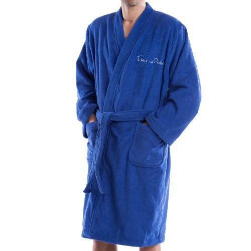Peignoir ponge arthur bleu roi achat vente peignoir cdiscount for Peignoir eponge homme