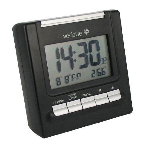 vedette vr30022 r veil quartz lcd noir radio. Black Bedroom Furniture Sets. Home Design Ideas