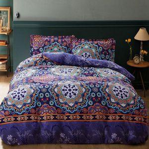 housse de couette fleurie achat vente housse de couette fleurie pas cher cdiscount. Black Bedroom Furniture Sets. Home Design Ideas