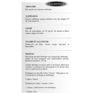 "CANAPÉ - SOFA - DIVAN Canapé 2 places ""fixe"" microfibre 149 cm PINTO - L"