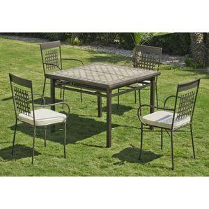 Table de jardin mosaique achat vente table de jardin for Salon de jardin mosaique