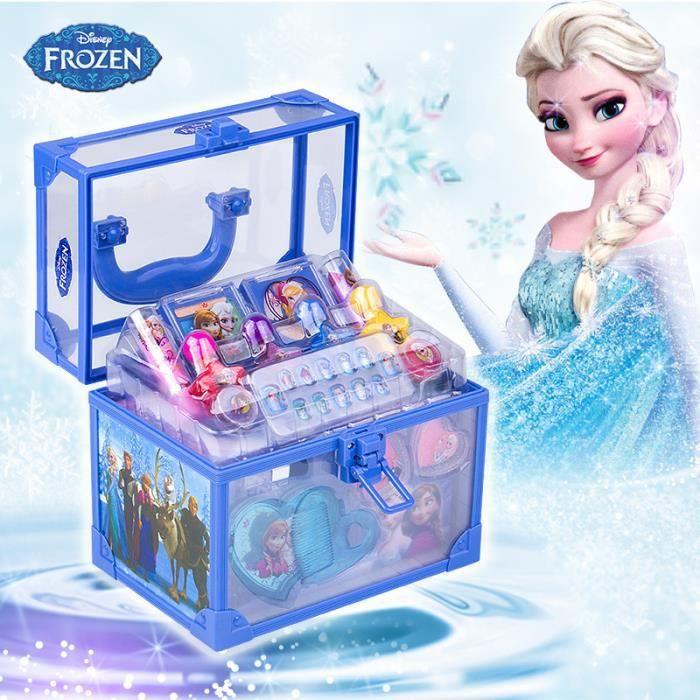 Disney reine des neiges elsa trousse de maquillage portable bo te de cosm tiques achat vente - Boite a bijoux reine des neiges ...