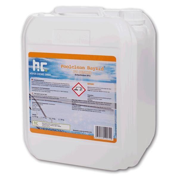 Ph moins liquide 1 x 14 kg achat vente traitement de l for Acide muriatique piscine
