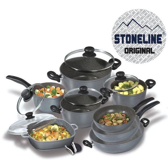 stoneline set de 13 pieces en pierre achat vente batterie de cuisine stoneline set de 13. Black Bedroom Furniture Sets. Home Design Ideas