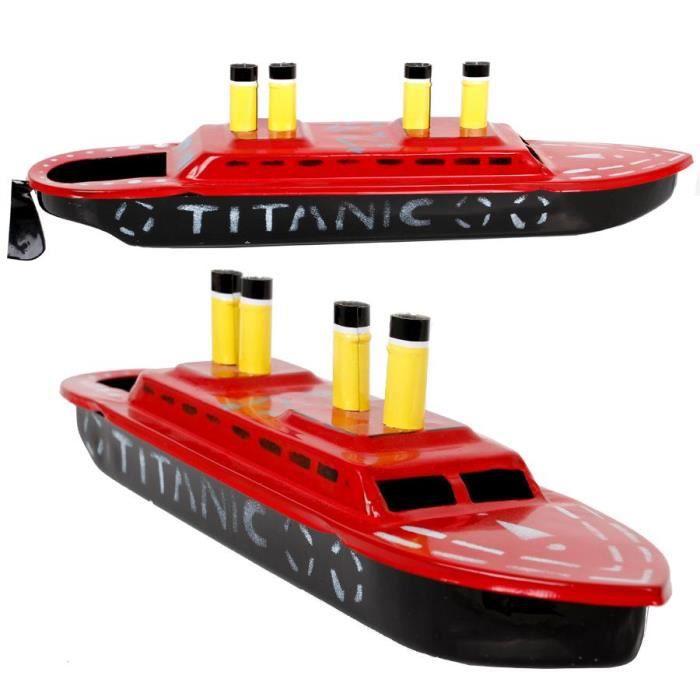 jouet mecanique pop pop bateau a vapeur titanic en tole recycle achat vente bateau sous. Black Bedroom Furniture Sets. Home Design Ideas