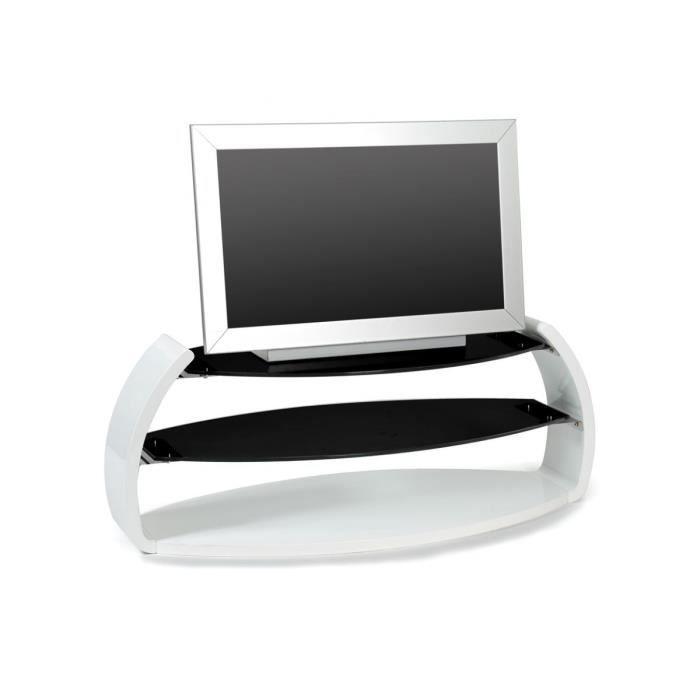 Diablo meuble tv noir et blanc achat vente meuble tv for Meuble tv noir et blanc