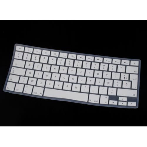 protection clavier azerty silicone macbook pro air 13 3 15 3 blanc prix pas cher cdiscount. Black Bedroom Furniture Sets. Home Design Ideas