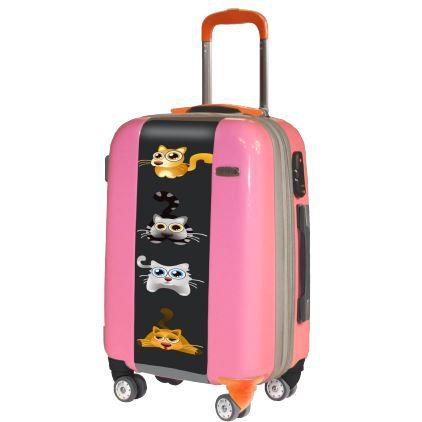 valise pink kitty valise cabine originale rose achat. Black Bedroom Furniture Sets. Home Design Ideas