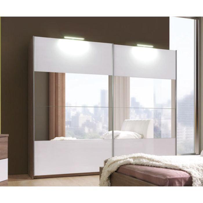 Armoire de chambre a coucher cali avec miroir 2m50 achat - Armoire moderne chambre ...