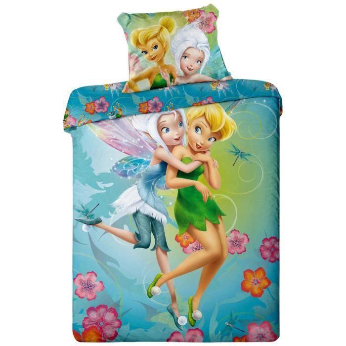 parure de lit f e clochette disney fairies achat vente. Black Bedroom Furniture Sets. Home Design Ideas