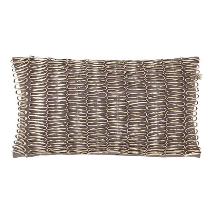 Housse de coussin myratha 30x50 cm gris fonc achat for Housse de coussin gris