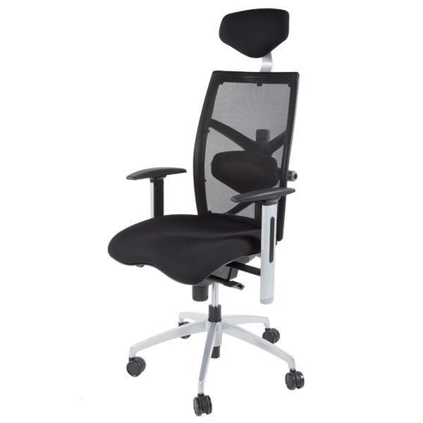 fauteuil de bureau en textile de couleur noire oc0 achat vente chaise de bureau noir cdiscount. Black Bedroom Furniture Sets. Home Design Ideas