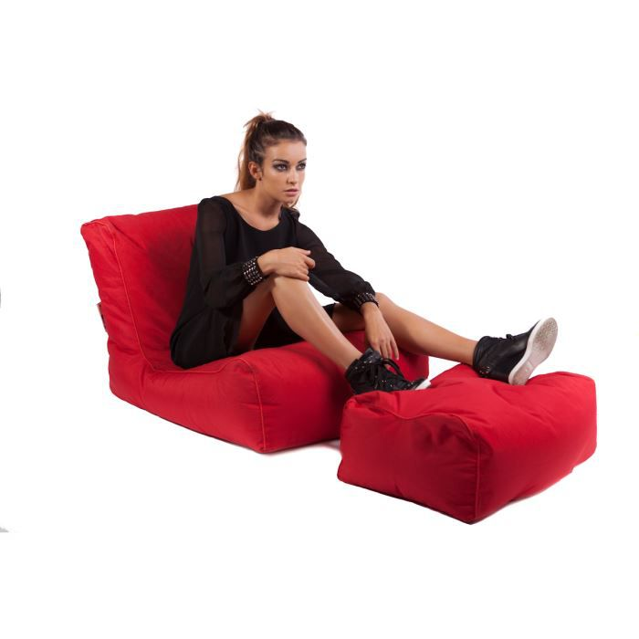 Coussin lazy avec repose pieds achat vente chaise for Chaise longue avec repose pied
