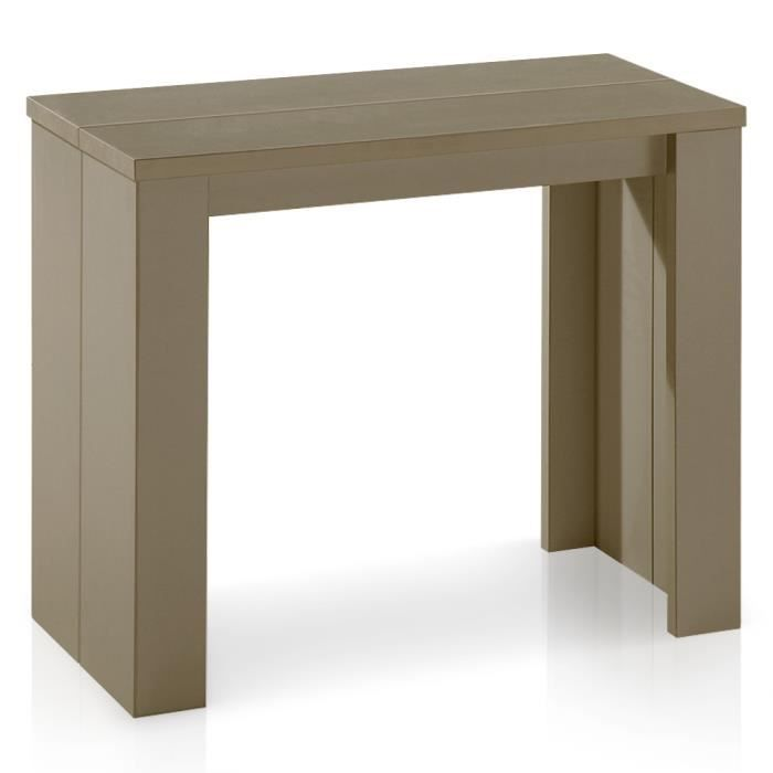 Table console brookline taupe achat vente table for Table salle manger taupe