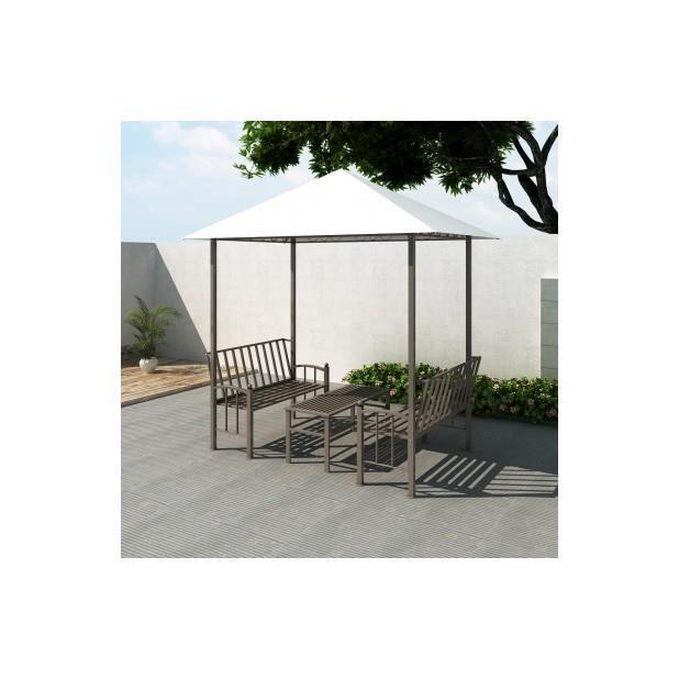 superbe pavillon de jardin avec table et bancs 2 5 x 1 5 x. Black Bedroom Furniture Sets. Home Design Ideas