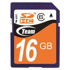 CARTE MÉMOIRE Carte mémoire Pro SDHC Class6 16 Go Team Group