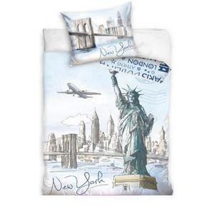 drap de lit new york achat vente drap de lit new york pas cher cdiscount. Black Bedroom Furniture Sets. Home Design Ideas