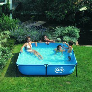 belle piscine carr hors sol pas cher. Black Bedroom Furniture Sets. Home Design Ideas