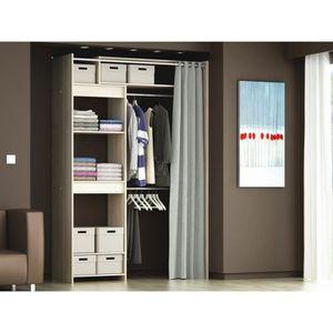 kit rangement placard achat vente kit rangement placard pas cher soldes cdiscount. Black Bedroom Furniture Sets. Home Design Ideas
