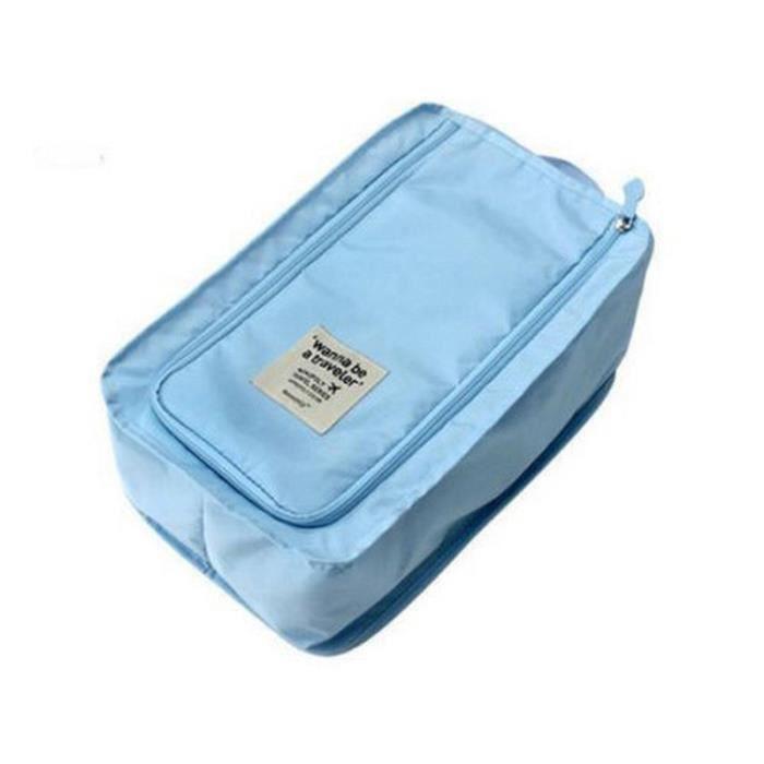 sac de rangement de chaussures bleu clair tu achat vente housse de rangement sac de. Black Bedroom Furniture Sets. Home Design Ideas