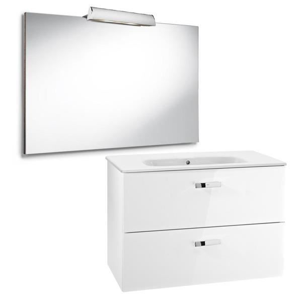 Pack unik victoria blanc meuble 600x450mm miroi achat for Colonne salle de bain unik victoria