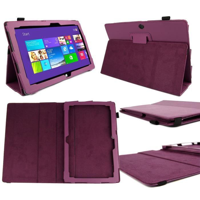 etui violet support pour microsoft surface pro 2 achat vente coque housse etui violet