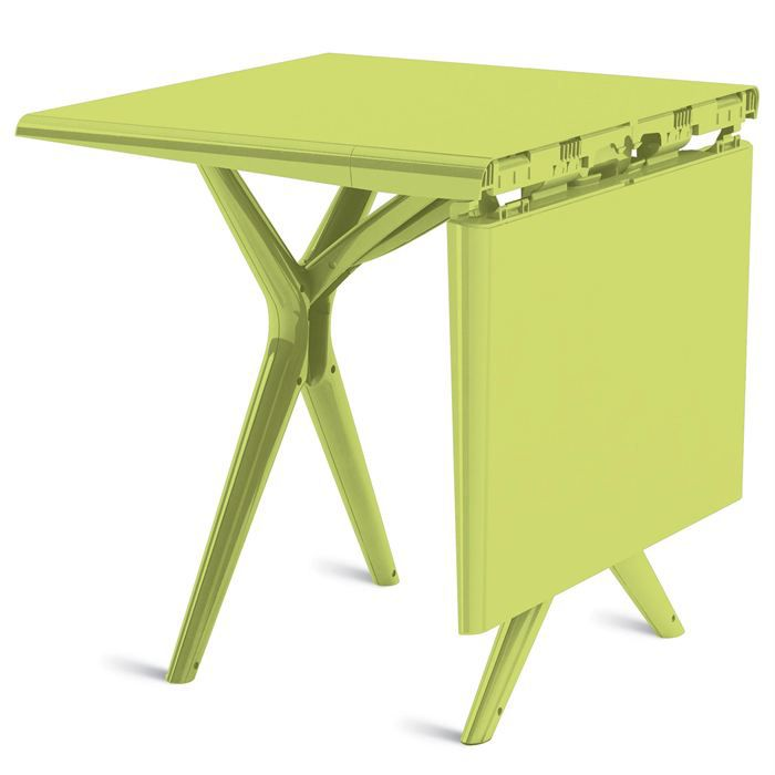 Table de jardin 115 X 75 cm Sigma Grosfillex Vert anis Grâce ...