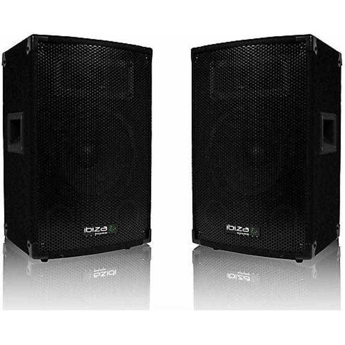 paire d u0026 39 enceintes 2 x 300 w ibiza sound disco