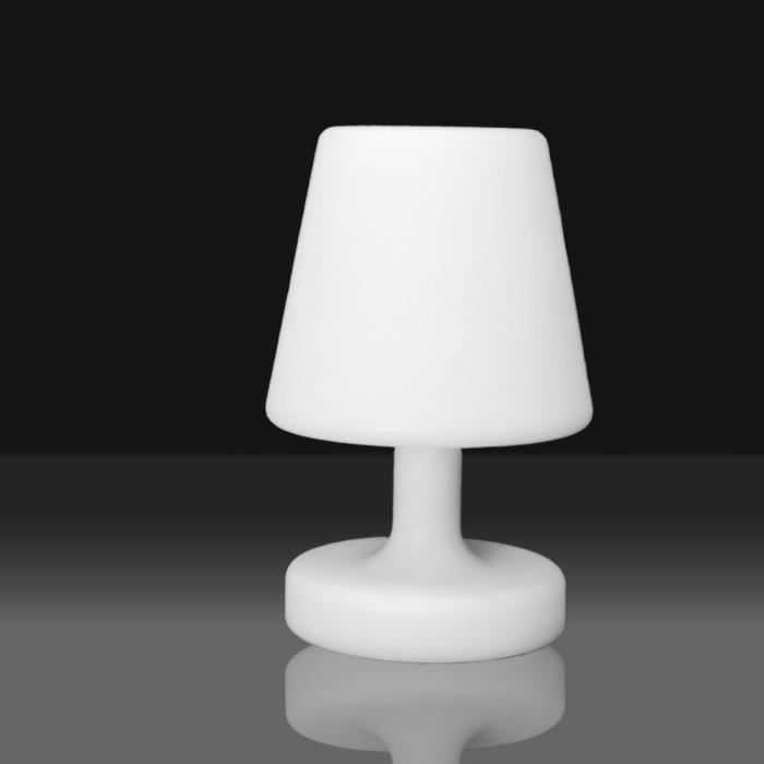 Lampe led 26cm blanche achat vente d coration for Lampe exterieur blanche