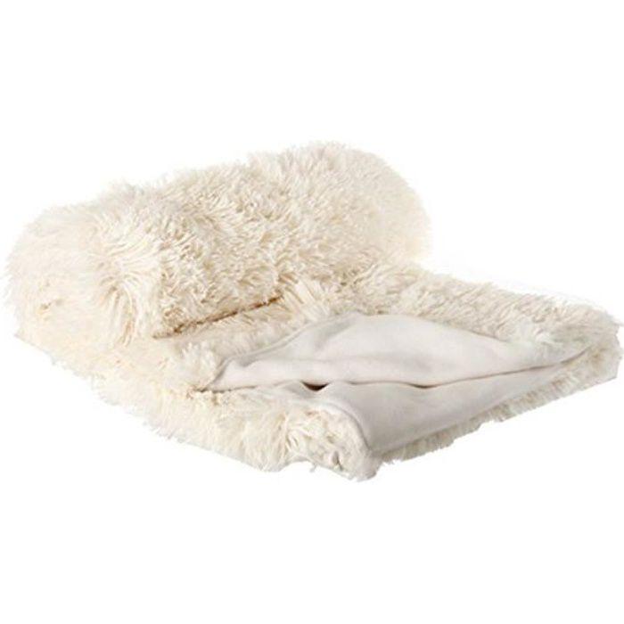 plaid imitation fourrure poil long cru 120 x achat vente couverture plaid cdiscount. Black Bedroom Furniture Sets. Home Design Ideas