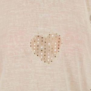 T-SHIRT T-shirt empiècement coeur paille...