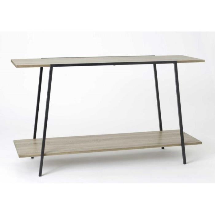 grande console loft 2 plateaux bois brut achat vente console grande console loft 2 cdiscount. Black Bedroom Furniture Sets. Home Design Ideas