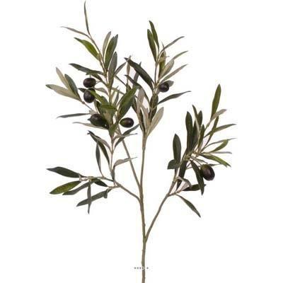 branche d olivier artificiel h 50 cm 104 feuilles 6 olives achat vente fleur artificielle. Black Bedroom Furniture Sets. Home Design Ideas
