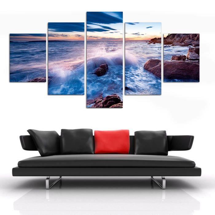 plusieurs mur de toile de panneau art moderne abstrait de l 39 le de pierre sans art mural. Black Bedroom Furniture Sets. Home Design Ideas